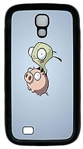 Pig and Alien Custom Samsung Galaxy I9500/S4 Case Cover TPU Black