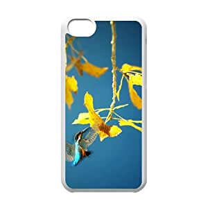 Custom Phone Case with Flower Wallpaper Image On The Back Fit To iPhone 5C