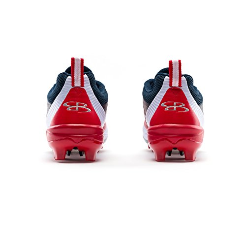 Boombah Mens Marauder Molded Cleats - 7 Color Options - Multiple Sizes Navy/Red PPU9gzrl