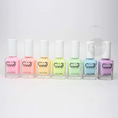 Color Club Poptastic Pastel Neon Collection 2015 Nail Lacquer Set Of 7 Colors