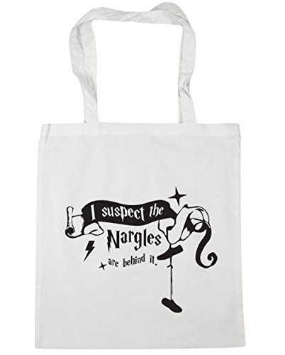 Beach 10 litres Suspect 42cm I Shopping White Bag Quote x38cm Tote Are Nargles HippoWarehouse The Behind Gym It qBZCwP