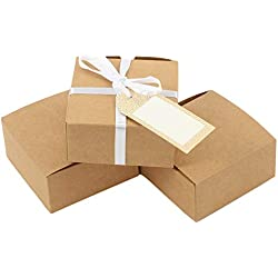 Andaz Press Favor Box Kraft, 4 x 2-Inch Eco Chic Favor Box Container, 25-Pack, Party Favor Box Rustic for Wedding Favors, Quinceanera, Anniversary, Luau, Grad Party