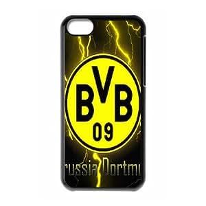 iPhone 5C Phone Case Black Borussia Dortmund BVB Bundesliga Football Club BVB Logo F5126777