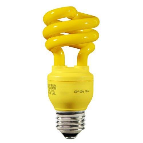 Energy Miser FE-IIS-13W-Y - 13 Watt CFL Light Bulb - Compact Fluorescent - 60 W Equal - Yellow Bug Light (13w Yellow Bug)
