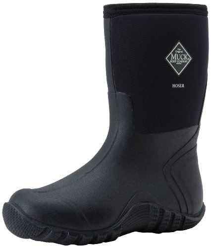 The Original MuckBoots Adult Hoser Mid Boot,Black,8 M US Mens/9 M US (Calf Western Dress Socks)