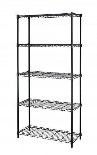 Paylesshere 5-Shelf Steel Wire Tier Layer Shelving 72''x36''x14'' Storage Rack