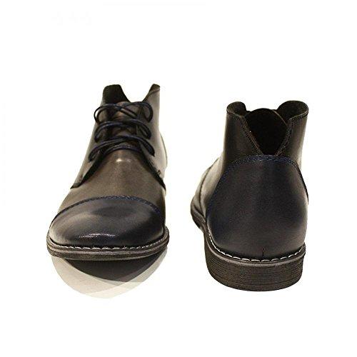 da Morbido Grigio Handmade Autunno Modello Boots Pelle Italiano Pelle Allacciare Uomo Vacchetta Chukka in Un1HW7
