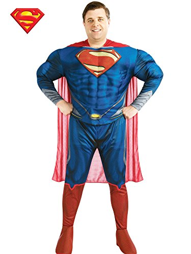 Rubie's Costume Plus-Size Man of Steel Deluxe Adult Superman Costume, Blue/Red, Plus ()
