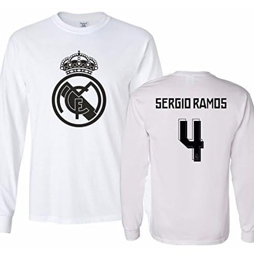 hot sales 0c0c2 cb84e 85%OFF Tcamp Real Madrid Shirt Sergio Ramos #4 Jersey Men's ...