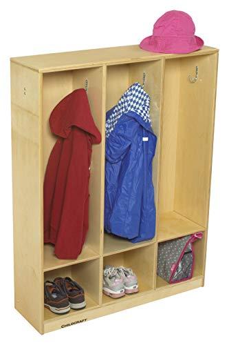Childcraft 1464168 3-Section Coat Locker, 42