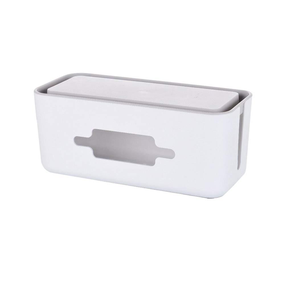 Caja De Almacenamiento Enrutador Inalámbrico Plástico Plástico Inalámbrico Caja De Acabado En Bandeja De Cable Caja De Cable De Montaje En La Pared 597511