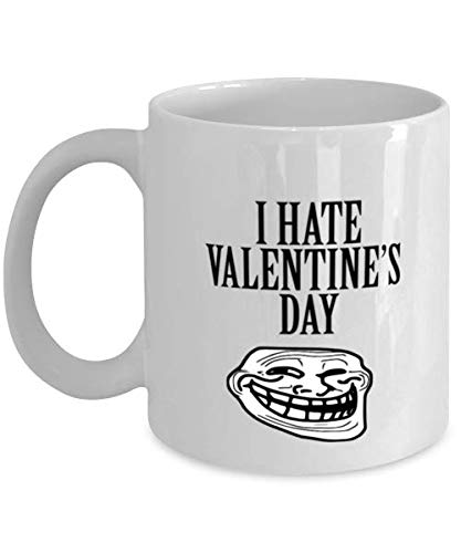 Valentine's Day Mug, I Hate Valentine's Day, Valentine Day Gift For Her, Funny Valentine Day Gift For Him, Husband Wife Coffee Mug, Couples Mug