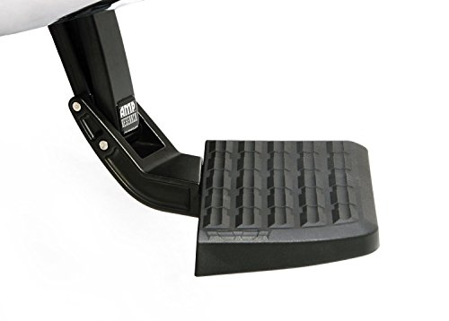 (AMP Research 75317-01A BedStep Flip Down Bumper Step, Black)