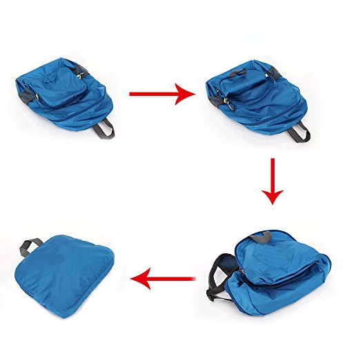 Funshow Mochila de viaje con embalaje - Mochila ligera Dark Blue