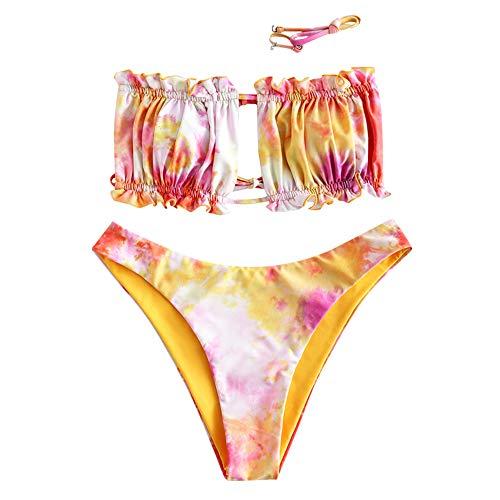 ZAFUL Tie Dye Bandeau High Cut bikini set badmode badpak
