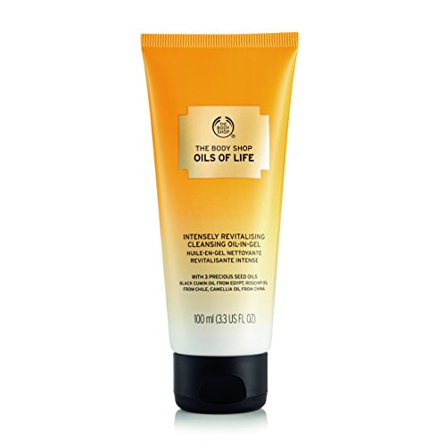 The Body Shop Oils of Life Intensely Revitalizing Cleansing Oil-In Gel, 3.3 Fl Oz (Vegan)