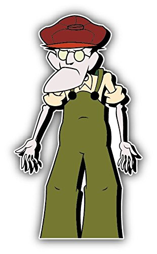 valstick Courage The Cowardly Dog Eustace Cartoon Car Bumper Sticker Decal