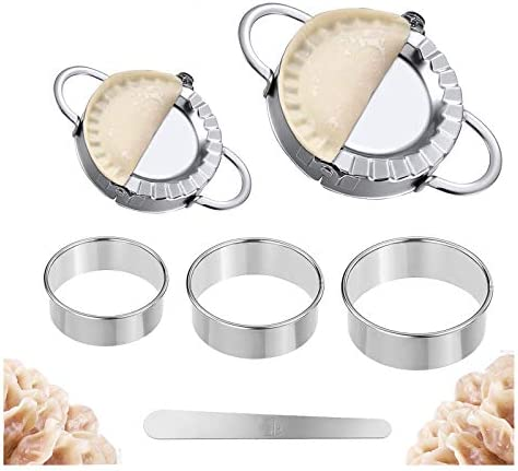 WQ Traditional Metal Chef Aid Tin Plated Cake Pastry Dumplings 3PCS Cutters Set
