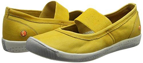 Femme yellow Jaune Ion446sof Ballerines yellow Softinos 003 0q6EZwOx