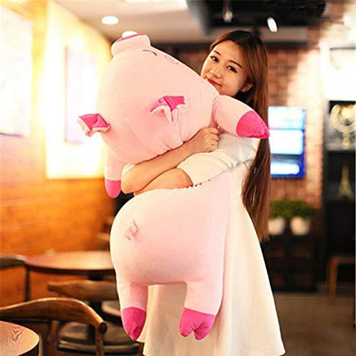 FidgetGear Large Soft Stuffed Lying Pig Plush Pillow Big Animal Pigs Doll Toy 100cm 39inch