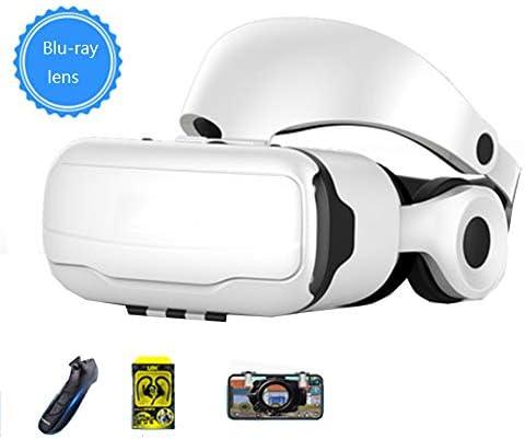 バーチャルリアリティのメガネ3D 3.5〜6.4インチのiPhone / Androidスマートフォンに最適、 360度パノラマモード 視聴覚統合,White,Package2