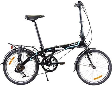 Dahon Vybe D7 Tour Obsidiana con defensas y Trasero de Bicicleta ...
