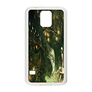 Samsung Galaxy S5 Phone Case White Ancient Dragon VJN342206