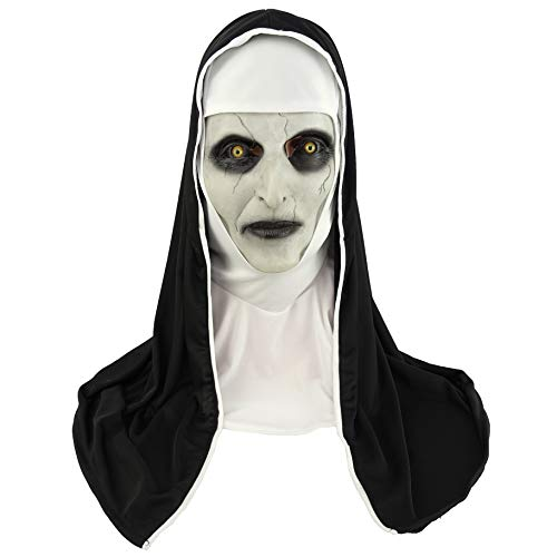 CosHobby The Nun Mask Valak Mask Halloween Cosplay Emulsion Mask and Headgear -