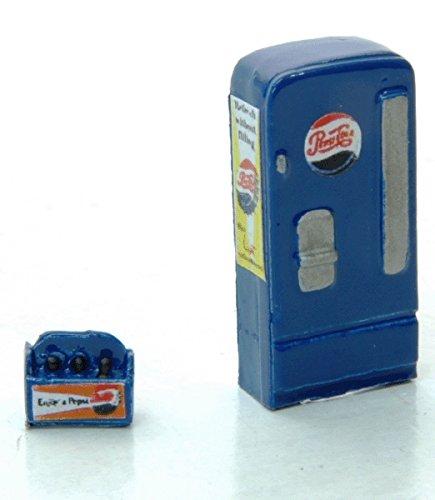 - HO Scale Upright Soda Machine w/Case -- Pepsi