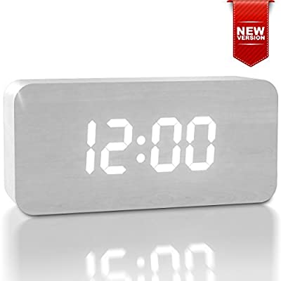 2017 New Upgraded LED Alarm Clock - Cute Color Changing Digital Display Model for Heavy Sleepers - Get Today 100% Warranty - Travel Clocks for Adults, Teens & Kids, Girls and Boys - Limited Edition