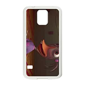 Samsung Galaxy S5 Cell Phone Case Covers White Chicken Little Character Abby Mallard Wvzwx
