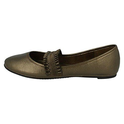 Compensées On Femme Spot Bronze Sandales qUFWES