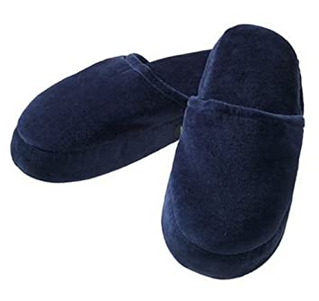 21f77b26938 Amazon.com  HoMedics MS-1ML Memory Foam Massaging Slippers - Navy ...