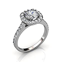 White Gold Ring with Solitaire Swarovski Crystal