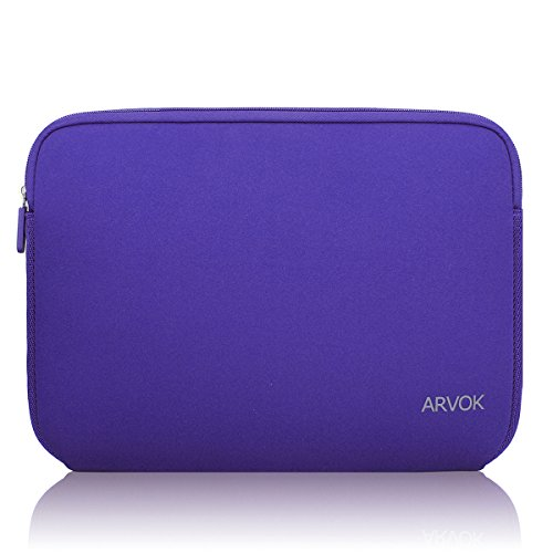 Notebook Sleeve Top Loading (Arvok 15-15.6 Inch Laptop Sleeve Multi-Color & Size Choices Case/Water-resistant Neoprene Notebook Computer Pocket Tablet Briefcase Carrying Bag/Pouch Skin Cover For Acer/Asus/Dell/Lenovo/HP, Purple)