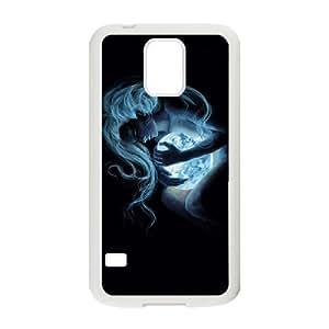 Luna funda Samsung Galaxy S5 caja funda del teléfono celular del teléfono celular blanco cubierta de la caja funda EEECBCAAJ15755