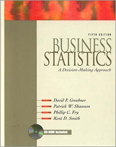 Business statistics a decision making approach 5th edition business statistics a decision making approach 5th edition david f groebner patrick w shannon phillip c fry kent d smith 9780130934918 fandeluxe Image collections
