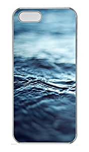 iPhone 5 5S Case Calm Blue Water Ripples110 PC Custom iPhone 5 5S Case Cover Transparent