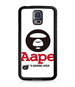 Famous Bape Logo Personalized Coque Case Cover With Hard Plastic Black Back Protection For Samsung Galaxy S5 i9600