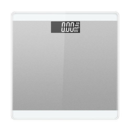 LUOYIMAN Body Weight Scale Digital High Accuracy 180kg/396lb (Silver) by LUOYIMAN