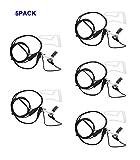 Xfox 2 Pin PTT Microphone Covert Acoustic Tube Earpiece Headset for Kenwood TK-272 Puxing PX777 Wouxun KG-699E TYT Baofeng UV-5R/A/E 888S H777 UV-82 Two Way Radio Walkie Talkies 2pin(5Pack)