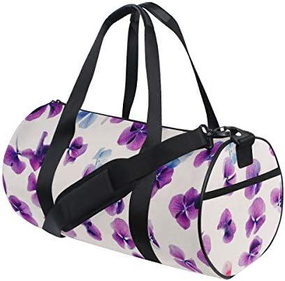 ボストンバッグ ゴージャスな紫色の花 ジムバッグ ガーメントバッグ メンズ 大容量 防水 バッグ ビジネス コンパクト スーツバッグ ダッフルバッグ 出張 旅行 キャリーオンバッグ 2WAY 男女兼用