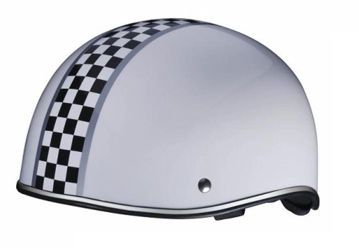 [해외] 바이 gal―(BY GAROO) 덕 테일 헬멧 체커(checker) 화이트 【사이즈:약57-60CM】 BH-08W