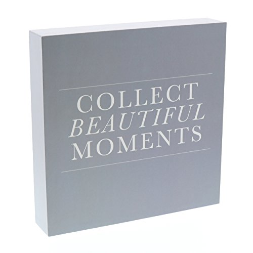 "Barnyard Designs Collect Beautiful Moments Box Sign, Modern Quote Home Decor Sign with Sayings 8"" x 8"""