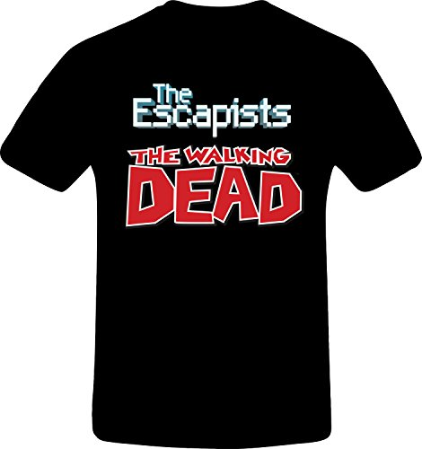 The Escapists, The Walking Dead - Best Quality Costum Tshirt (4XL, BLACK) (The Escapists Video Game 360)