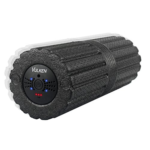 "High Four (Vulken 4 Speed High Intensity 17"" Vibrating Foam Roller Deep Tissue Massager for Muscle Recovery)"