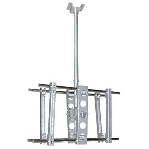 Soporte de techo LCD para 2 televisores, giro de 360°,<75kg