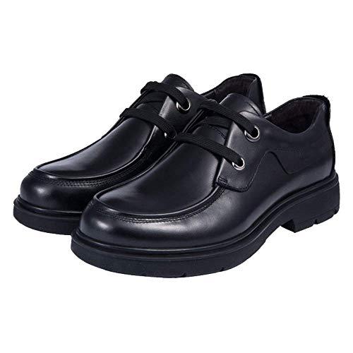 con Tacco Pelle da Moda Black Lacci Casual Uomo in Tacco Basso Scarpe Basso Scarpe Moda Scarpe Comfort U8qFPwxWn