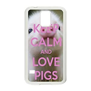 Pig Customized Cover Case for SamSung Galaxy S5 I9600,custom phone case case697019
