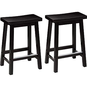Strange Amazon Com Winsome 94084 Satori Stool 24 Walnut Kitchen Cjindustries Chair Design For Home Cjindustriesco